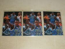 Lot of 3 - 1996-97 Flair Basketball Rookie Card #206 Kevin Garnett RC