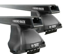 Rhino Pair of HD Roof Racks NISSAN Navara D40 Dual Cab 11/2005 On