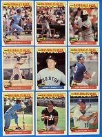 (9) 1986 Fleer Baseball's Best Lot Ripken Clemens Brett Gwynn Schmidt Canseco