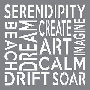 "Stencils x 8"" Serendipity Deco Art Andy Skinner Mixed Media"