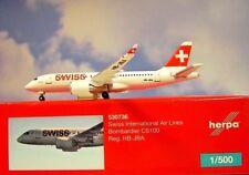 Herpa Wings 1:500  Bombardier CS100  Swiss HB-JBA  530736  Modellairport500