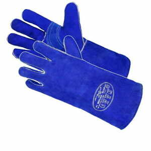 Welding Gloves Heat Resistant 14'' BBQ/Oven/MIG/TIG Welder Welder Gauntlets