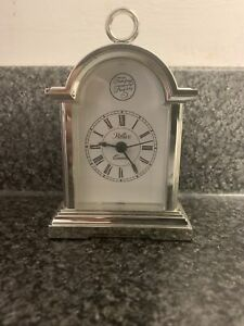 Tempus Fugit Reflex Small Mantle Clock Tested Works Well Requires 1 AAA Battery