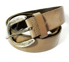 Alpha Industries 3D Cintura in Pelle 196929-Vero Cuoio Cintura ALFA Lettering NUOVO