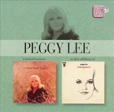 PEGGY LEE - A Natural Woman / Is That All There Is CD  2 ON 1 UK Release