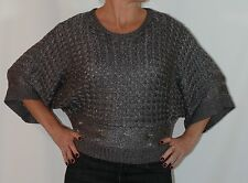 JAG GREY KNIT TOP - SIZE 10 APPROX