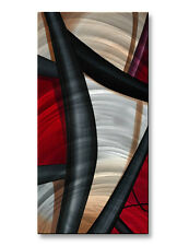 Abstract Metal Wall Art Sculpture Wow and Red 2 Décor by Artist Jerry Clovis