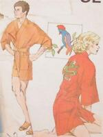 Unisex Kimono Sewing Pattern Multi Size Chest 32 to 44 inch Kwik Sew NOS