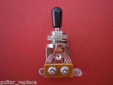 Selector Toggle Cromado Tip Negro Switch 3 Posiciones Guitarra LP 335