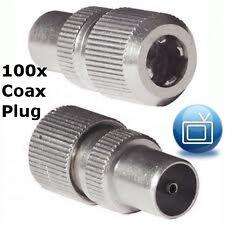 100 Coaxial Connectors / Plugs - RF, Male, Saorview, RG6, Coax x 100