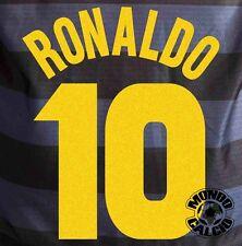 RONALDO KIT INTER NAME SET UEFA CUP FINAL  FLOCK 1997-98