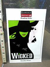 WICKED musical handbill Witch program Oz theater 2010 Toledo OHIO Marcie Dodd