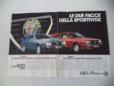 advertising Pubblicità 1982 ALFA ROMEO GTV6 GTV 6/SPRINT VELOCE
