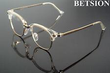 Vintage Transparent Gold Eyeglass Frames Full Rim Glasses man women Rx able