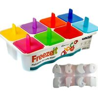 Alphabetic Ice Lolly Maker Popsicle Plastic Mould Tray Frozen Ice Cream Kitchen