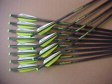 "CROSSBOW BOLTS FOR BARNETT VICTORY 2 DOZ PK CARBON H/MOON 20"" FREE  POINTS !"
