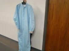 Vidaro Cleanroom Coveralls, Size Medium, Blue, Reusable
