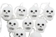 Gisela Graham Battery Powered Skeleton Led Lights Garland - Set of 10 Skeletons