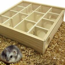 Pet Hamster Wooden Mazes Tunnel Small Animals Play Toys Supplies Accessories