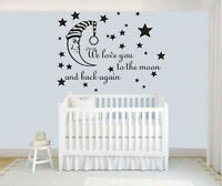 Wall stickers to the moon and back again Decal Removable Art Vinyl Decor Nursery