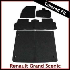 Renault Grand Scenic Mk2 2003-2009 Tailored Fitted Carpet Car & Boot Mats BLACK
