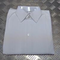 Genuine British Military White Marcella Front Dress Shirt RAF / RN, RM & Navy