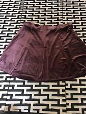 #25 Gap Womens Velvet Skirt Size XL Polyester Spandex Purple