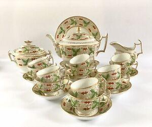 Early Coalport London Shape Tea & Coffee Set Pattern #936 Circa 1810-20
