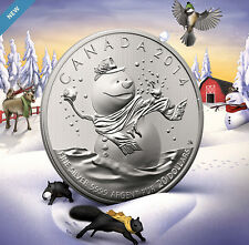 2014 $20 for $20  Snowman Christmas Commemorative .9999 Silver coin 1/4oz