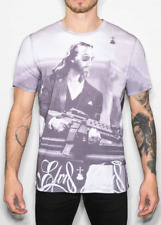 Mens Luxury /'Blue and Lonesome/' Crew Neck T-shirt Various Colours Elvis Jesus