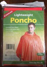 Coghlan's 9267 Lightweight Poncho, Orange - Waterproof - Vinyl