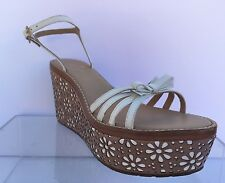 KATE SPADE Titi Wedge Sandal White Shoes Sandals Size 9.5