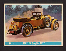 Bentley 1927 Scarce Car Automobile 1960s Card from Spain #34