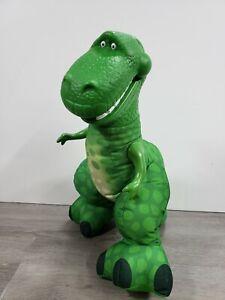 "Fisher Price 2009 Disney Toy Story 14"" T REX Plush Green Dinosaur Squeeze Roars"