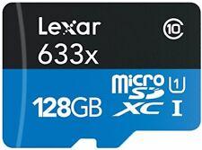 Lexar High-Performance 633x 128 GB MicroSDXC UHS-I Card with SD Adapter