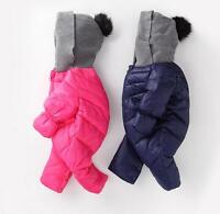 Toddler Soft Baby Girl's Boy's Down Snow Suit One Piece Size 6 12 18 24 Months @