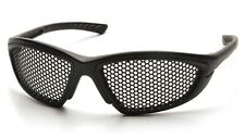Pyramex Trifecta Punched Wire Mesh Anti Fog Steel Lens Safety Glasses Z87