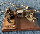 Telegraph Key & Sounder Legless Key. W U Tel Company 2-b 400 Ohms