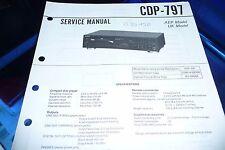 Service Manual-Anleitung für Sony CDP-797  ,ORIGINAL!