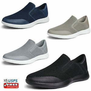Mens Comfort Loafers Knit Breathable Slip On Casual Shoes Sneakers