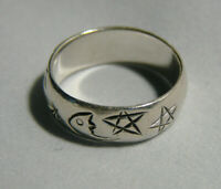Silberring mit Astrosymbolen  Größe 57  Ring Sterlingsilber Glücksring, Glück