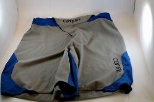 Century Spider Monkey Men's Size 32 Brazilian Ju Jitsu Shorts Gray Blue