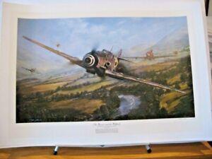 Warrior and Zemke's Wolfpack Me109 P-47 Gabreski Shaw Taylor Signed Aviation Art