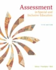 Assessment In Special and Inclusive Education, by Salvia, 11th Edition