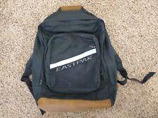 EastPak Backpack Vintage Leather Bottom School Bag One Size Made In U.S.A.