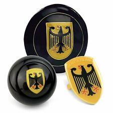 Deutschland 3Pcs Kit - Horn Button, Hood Crest, & 10mm Shift Knob VW Bus Bug T3