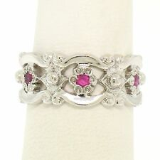 Unbranded Ruby White Gold 14k Wedding & Anniversary Bands