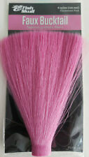 "FISH SKULL "" Faux Bucktail "" ( FL.PINK ) Tapered synthetic fibers 6"""
