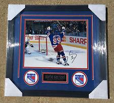 New York Rangers #99 WAYNE GRETZKY Signed Autographed FRAMED Hockey Photo COA!