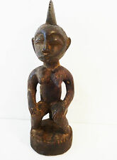 """Mbala Maternity Figure with Bowl in Hand Dr Congo Africa 12.5"""" H"""